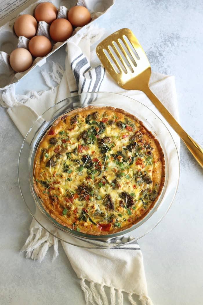 Mediterannean Vegetable Quiche from Hummusapien