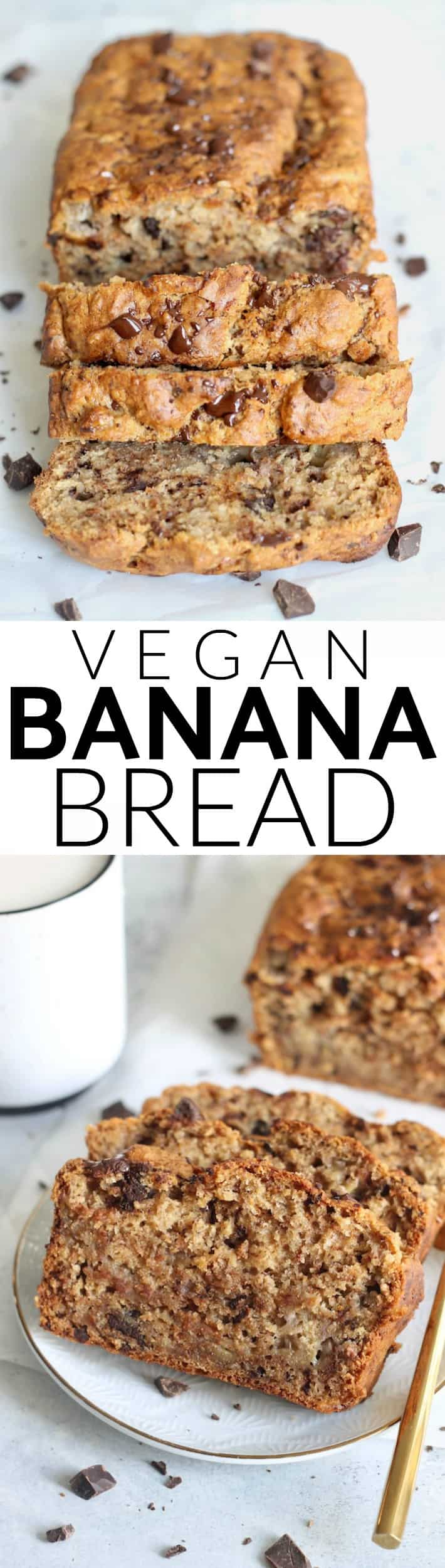Vegan Chocolate Chunk Banana Bread that