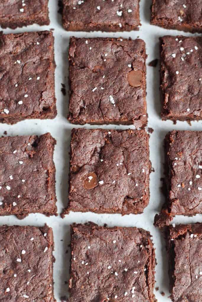 The best ever Vegan Brownie Recipe! Rich, ultra chocolatey brownie perfection.