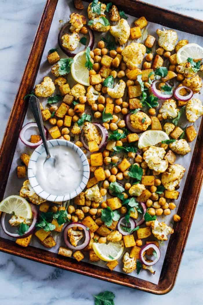 Sheet Pan Chickpea Tikka from Making Thyme for Health