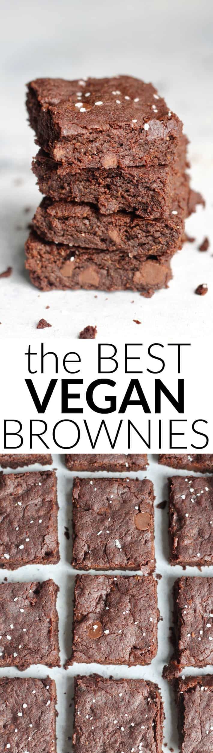 The best ever Vegan Brownie Recipe! Rich, ultra chocolatey, chewy brownie perfection.