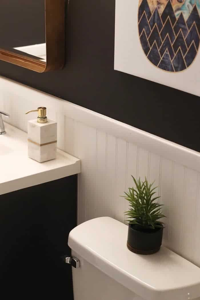 A modern small bathroom update on a budget!