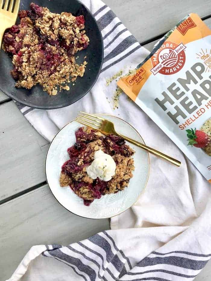 This easy Berry Crisp with Super Seed Crumble is the ultimate healthy and delicious summer dessert! Vegan and gluten-free.