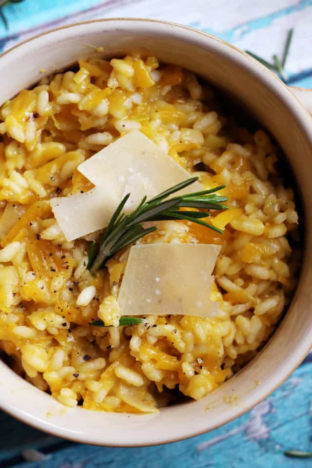 Butternut Squash and Rosemary Risotto with Pistachios and Lemon from Eats Well With Others