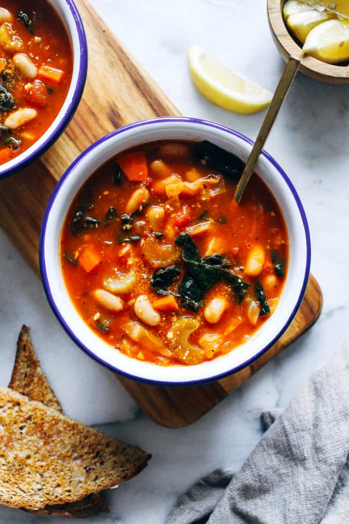 Tuscan White Bean Soup from Making Thyme for Health