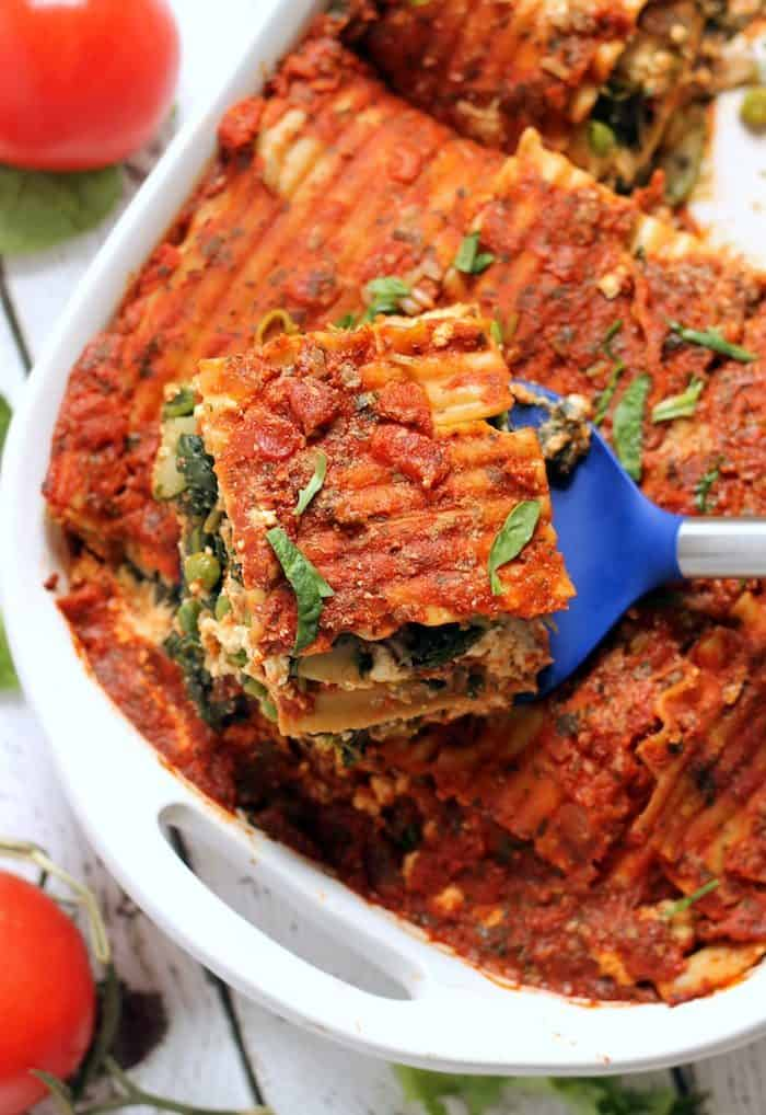 Easy Vegan Lasagna from Hummusapien
