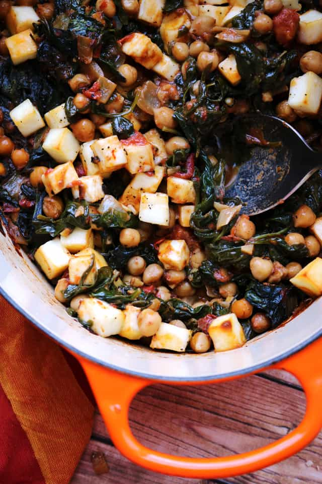 One-Pot Baked Paneer with Chickpeas and Spinach from Eats Well With Others