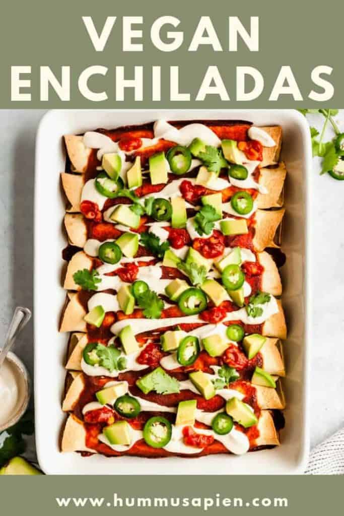 This epic Vegan Enchiladas with Black Beans and Kale recipe is a creamy, satisfying and wholesome plant-based meal. Kid approved and gluten-free!