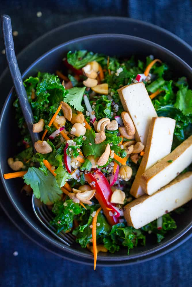 Asian Kale Power Salad from She Likes Food