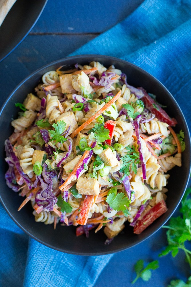 Asian Peanut Pasta Salad from She Likes Food