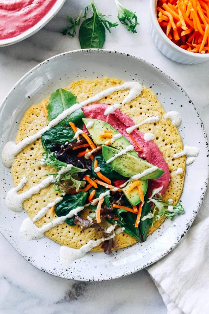 Chickpea Flour Crepes from Making Thyme for Health
