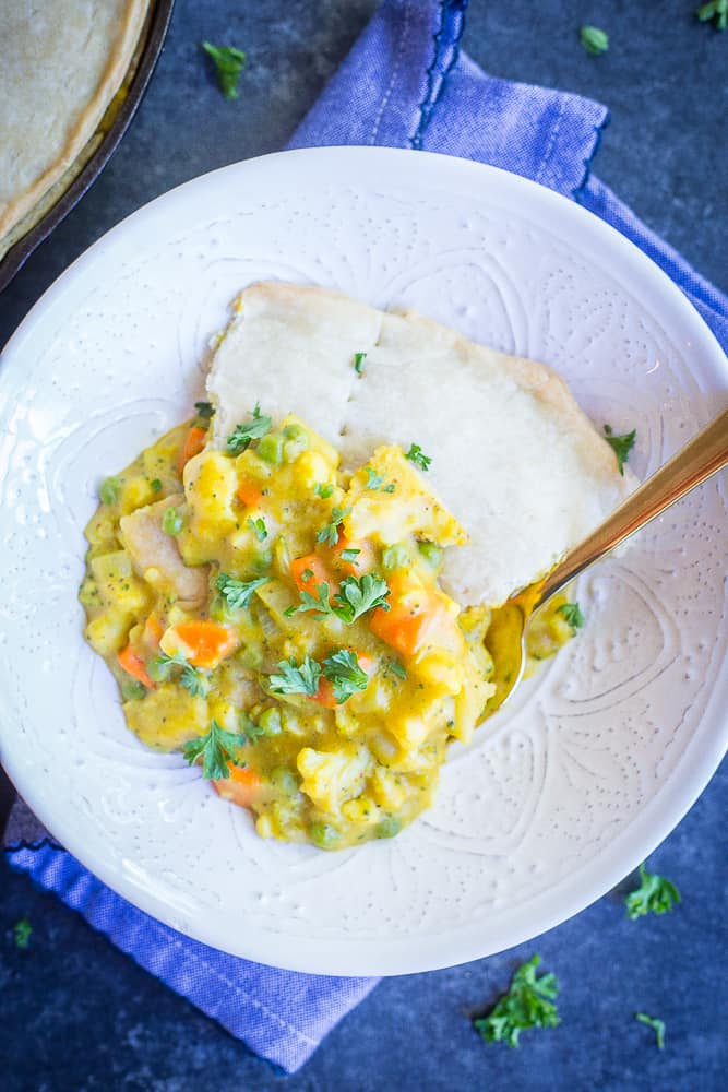 Curried Vegetable Pot Pie from She Likes Food