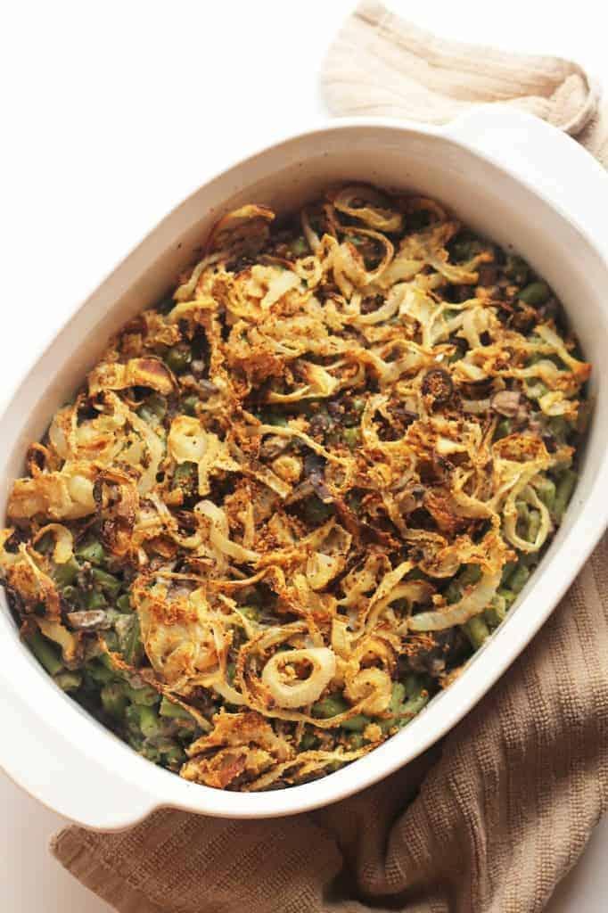 Healthy Green Bean Casserole (Vegan)