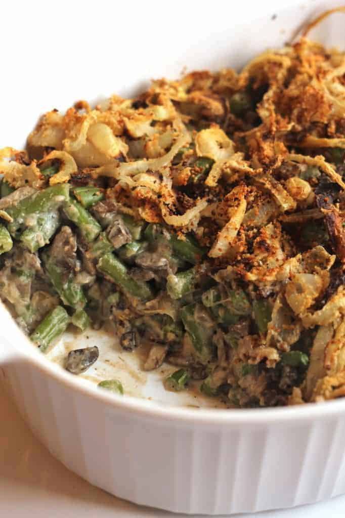 Healthy Green Bean Casserole (Vegan)