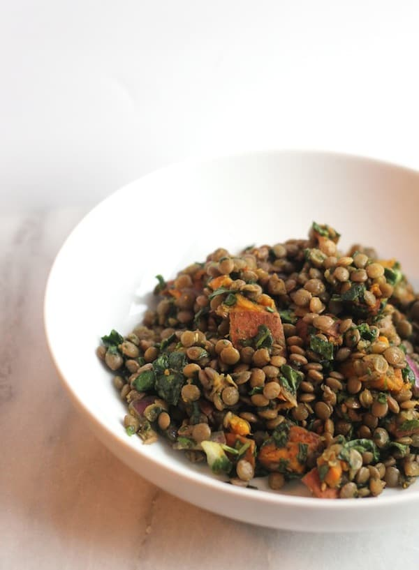 Sweet Potato, Lentil and Kale Detox Salad from Hummusapien