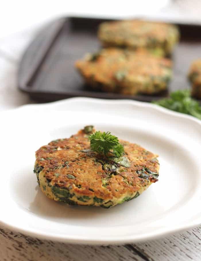 Kale and Broccoli Salmon Burgers