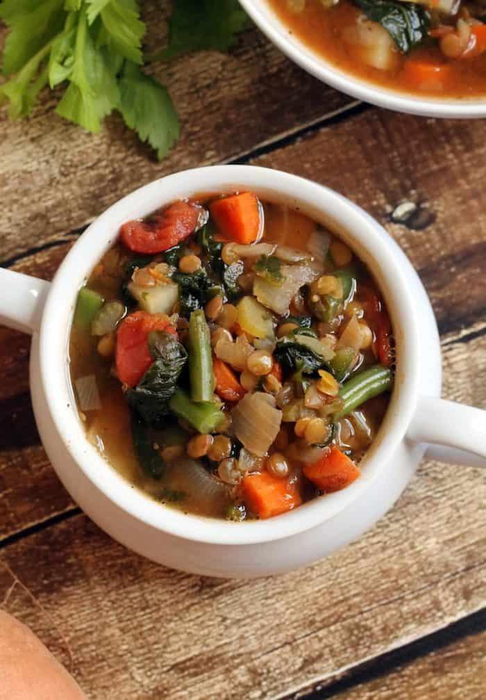 Lentil Vegetable Soup from Hummusapien