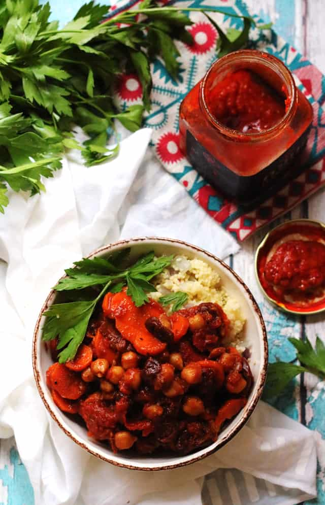Moroccan Spiced Chickpea and Carrot Ragout from Eats Well With Others