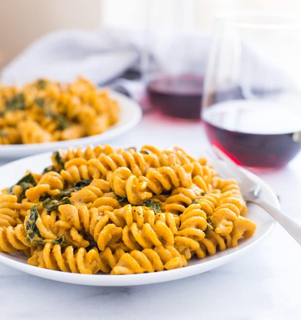 The Best Pumpkin Macaroni and 'Cheese' from Making Thyme for Health