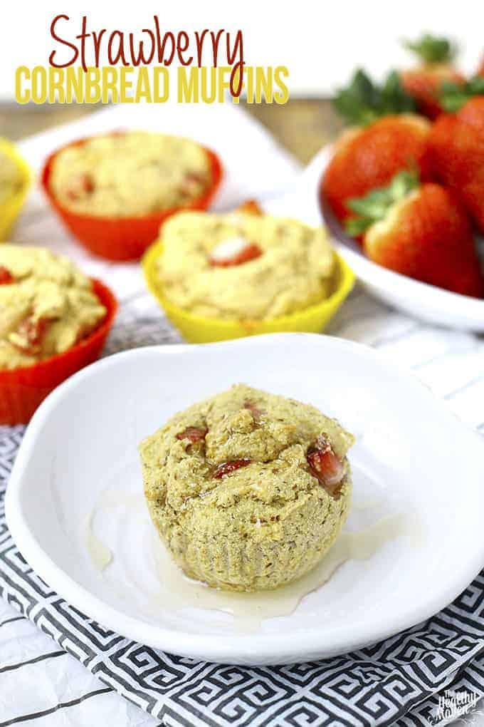 Strawberry-Cornbread-Muffins