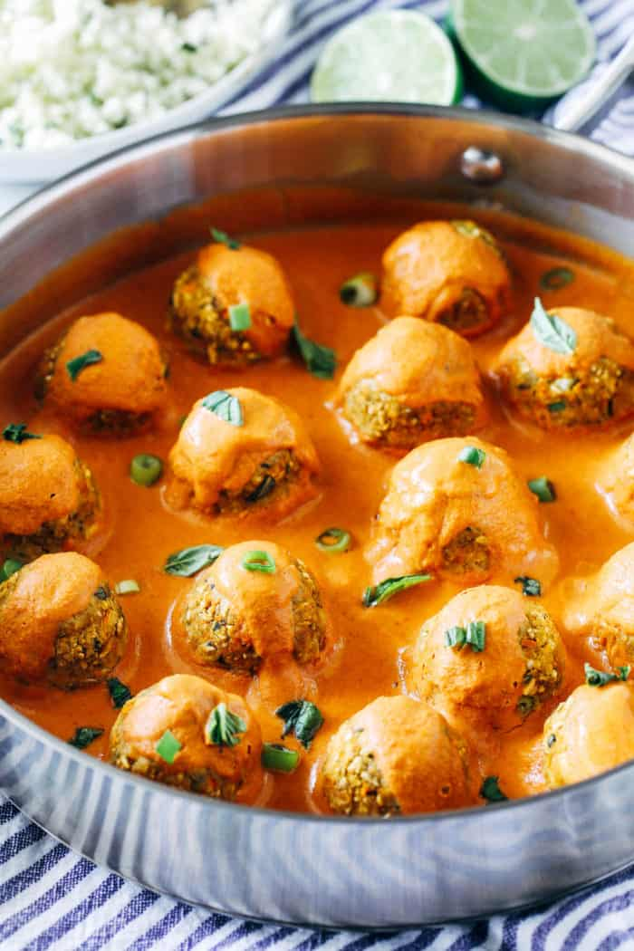 Red Curry Chickpea Meatballs from Making Thyme for Health