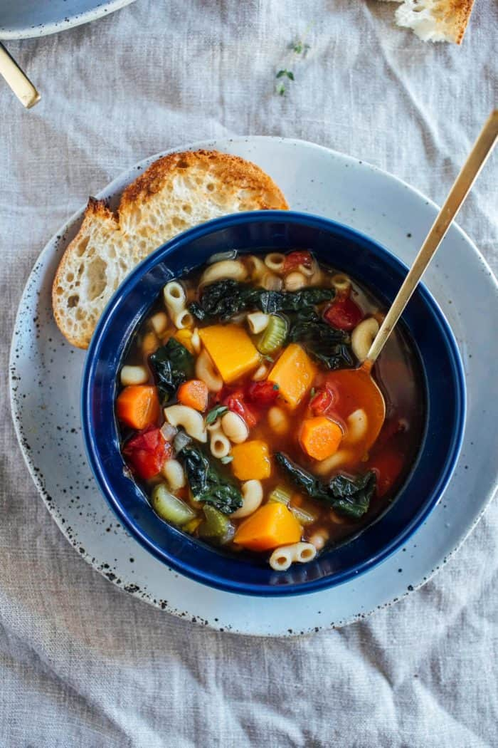 Winter Minestrone Soup from Making Thyme for Health