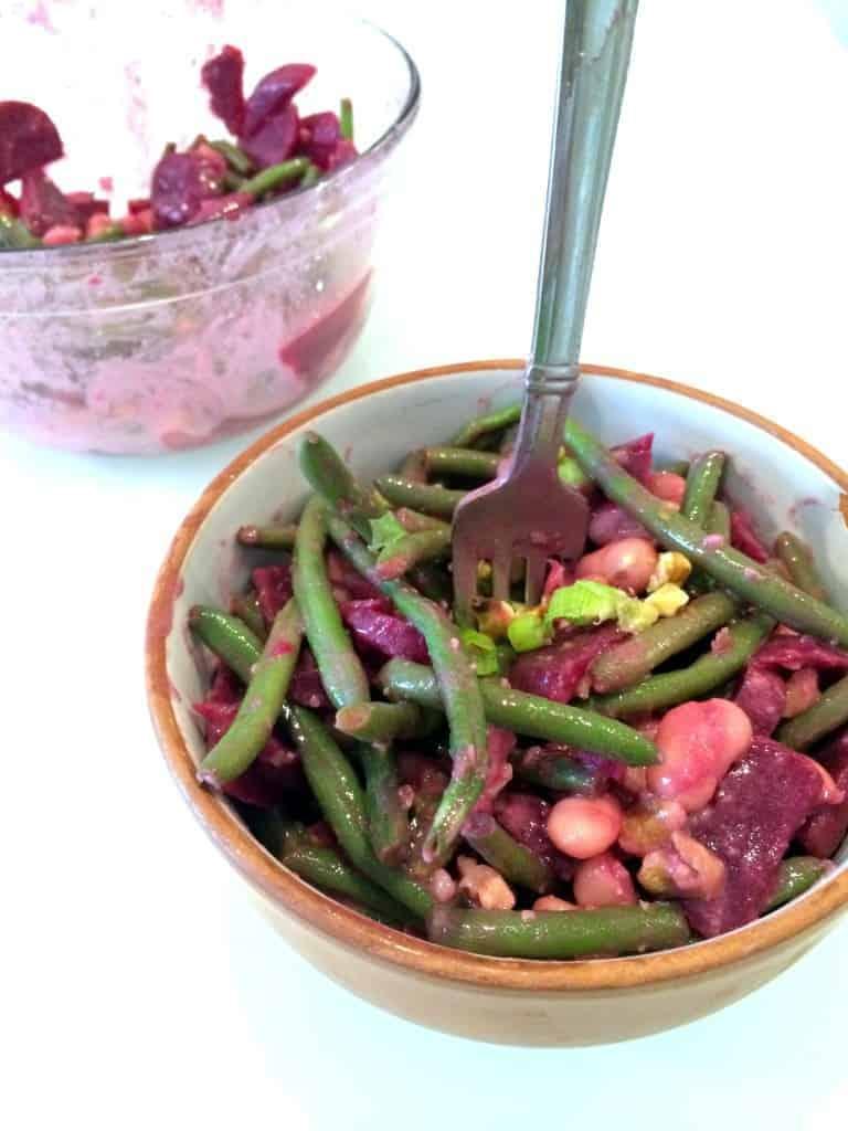 Beet, Green Bean & Cannelini Salad with Dijon Dressing // hummusapien.com