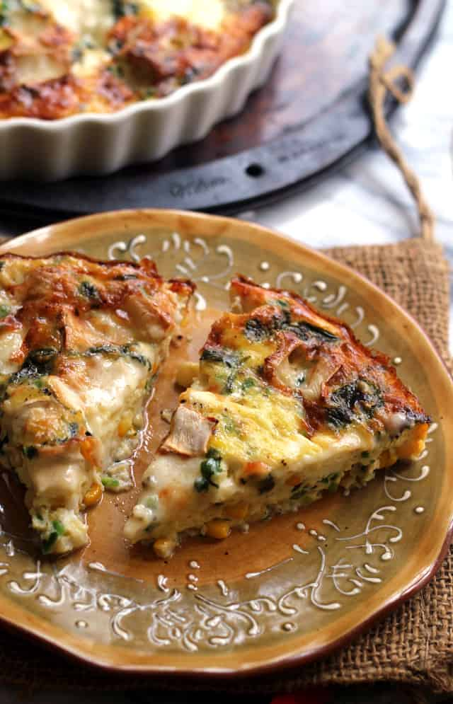 Corn, Jalapeno, and Brie Frittata