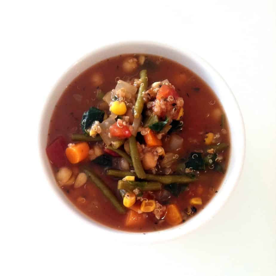 Vegetable Chickpea Quinoa Soup