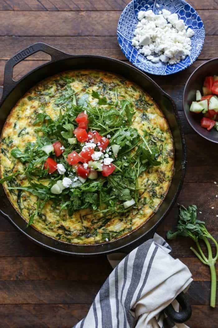 Zucchini, Arugula, and Feta Frittata from The Roasted Root