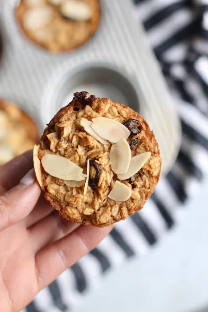 Cherry Almond Baked Oatmeal Cups Single
