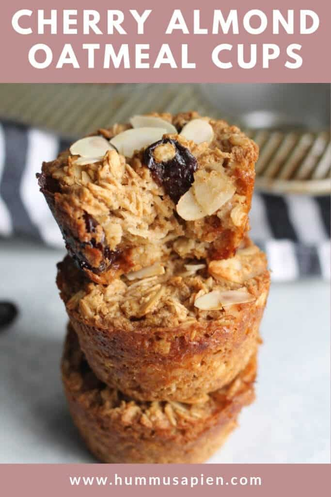 cherry almond oatmeal cups