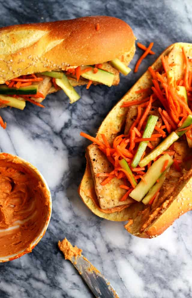 Vegetarian Tofu Banh Mi from Eats Well With Others