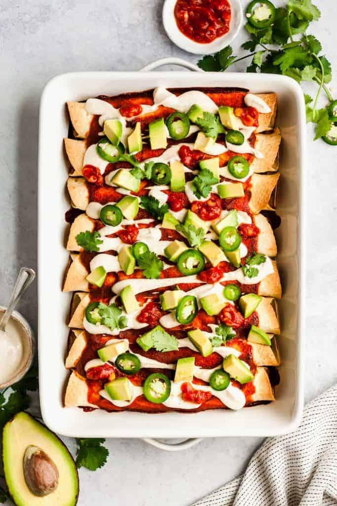 Pan-of-Vegan-Enchiladas-with-Black-Beans-and-Kale-3