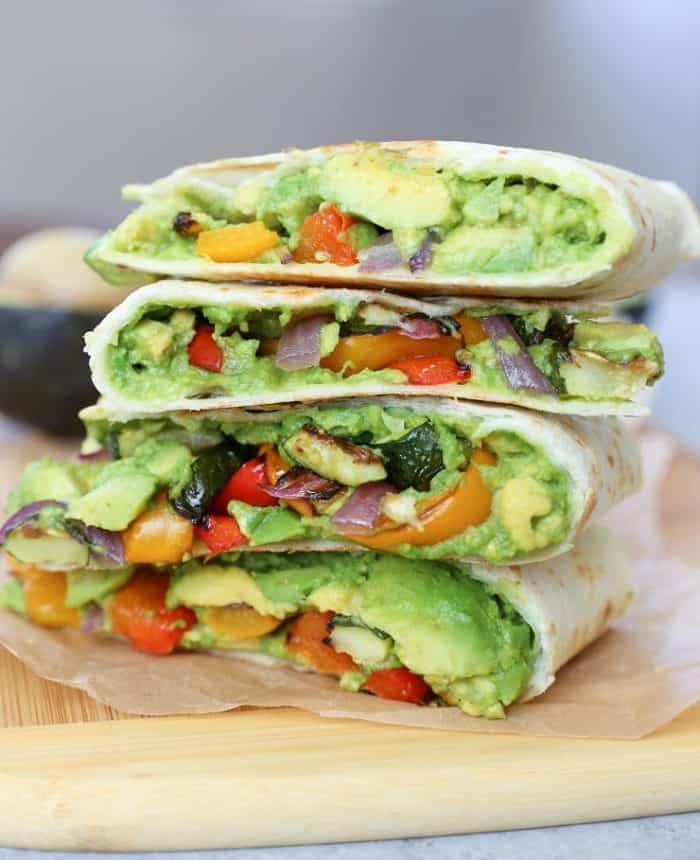 Grilled Vegetable Avocado Quesadillas from The Roasted Root
