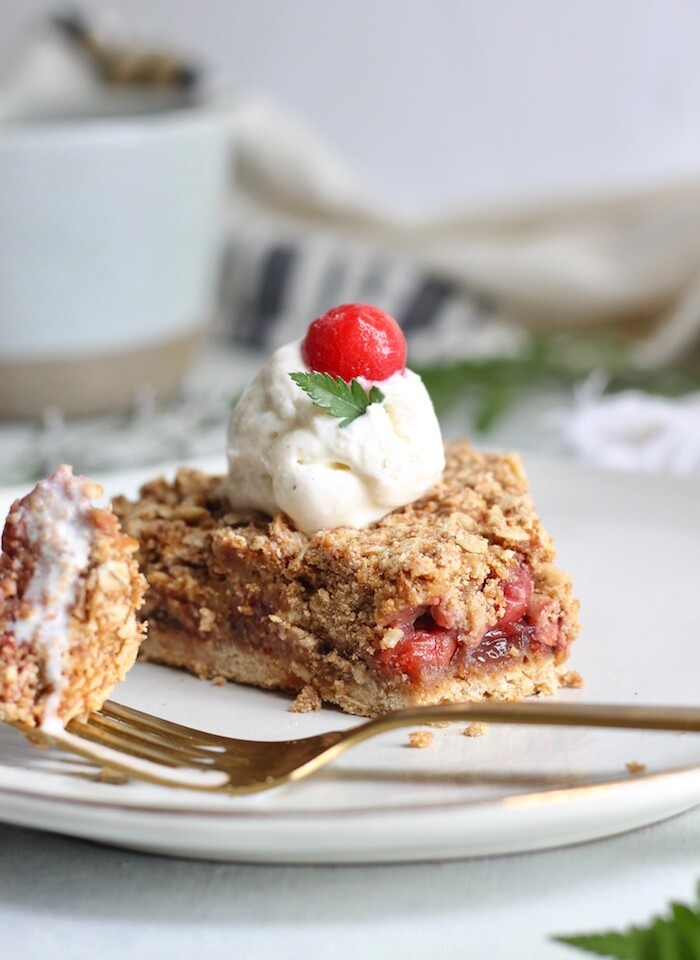 tart cherry pie with fork