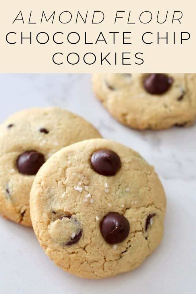 Amazing almond flour chocolate chip cookies! With crispier edges and pillowy soft middles, they're as tasty as the classic. Gluten-free!