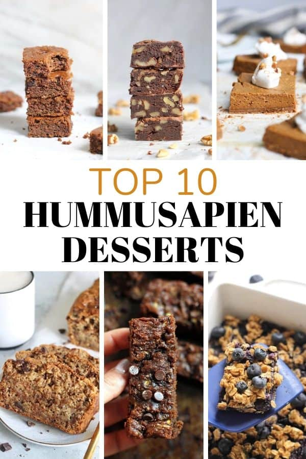 The Top 10 Hummusapien Desserts that are on repeat in my kitchen! From brownies to cookies to bars and MORE, this list contains my go-to sweets for any craving. Vegan and gluten-free options!