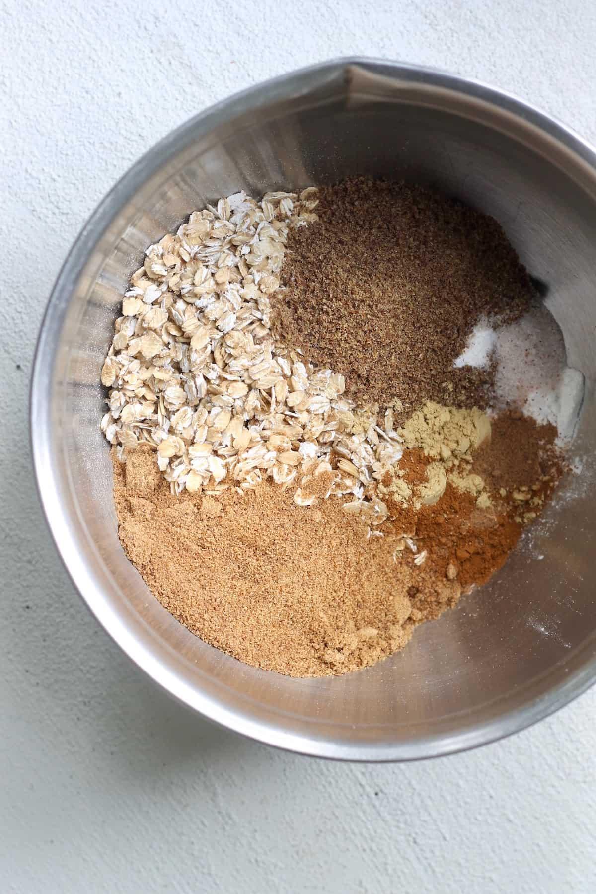 bowl of dry ingredients