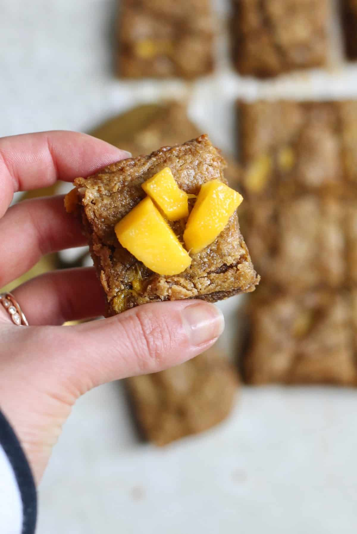 piece of mango blondie