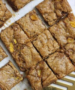 blondies with gold spatula