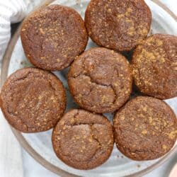 plate of pumpkin muffins
