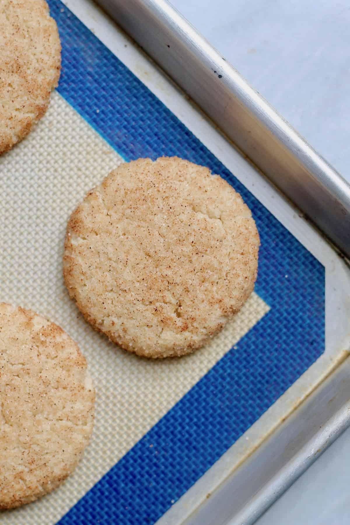 cookie on baking sheet
