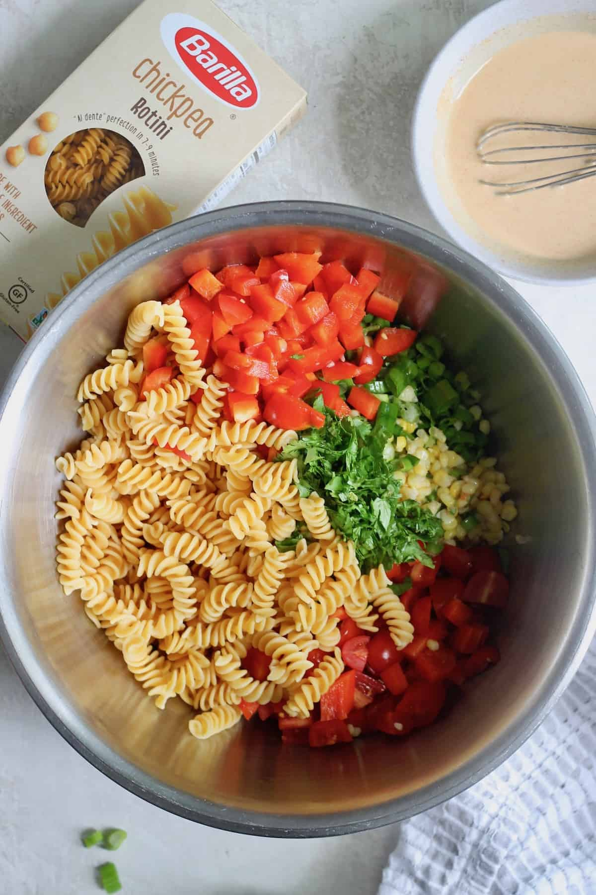 bowl of pasta and vegetables