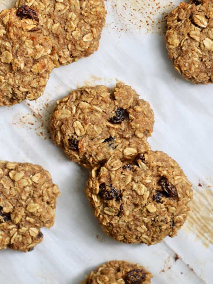 sheet of oatmeal cookies