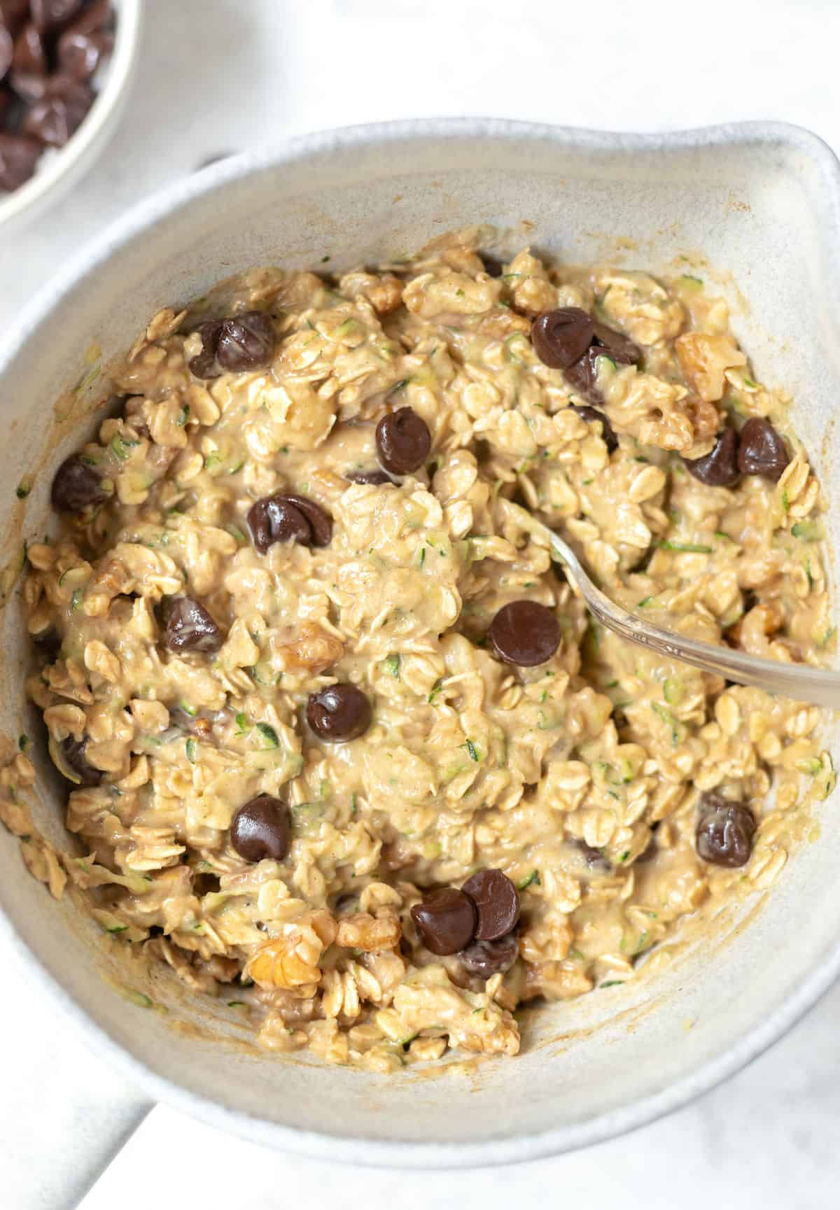 bowl of oatmeal ingredients