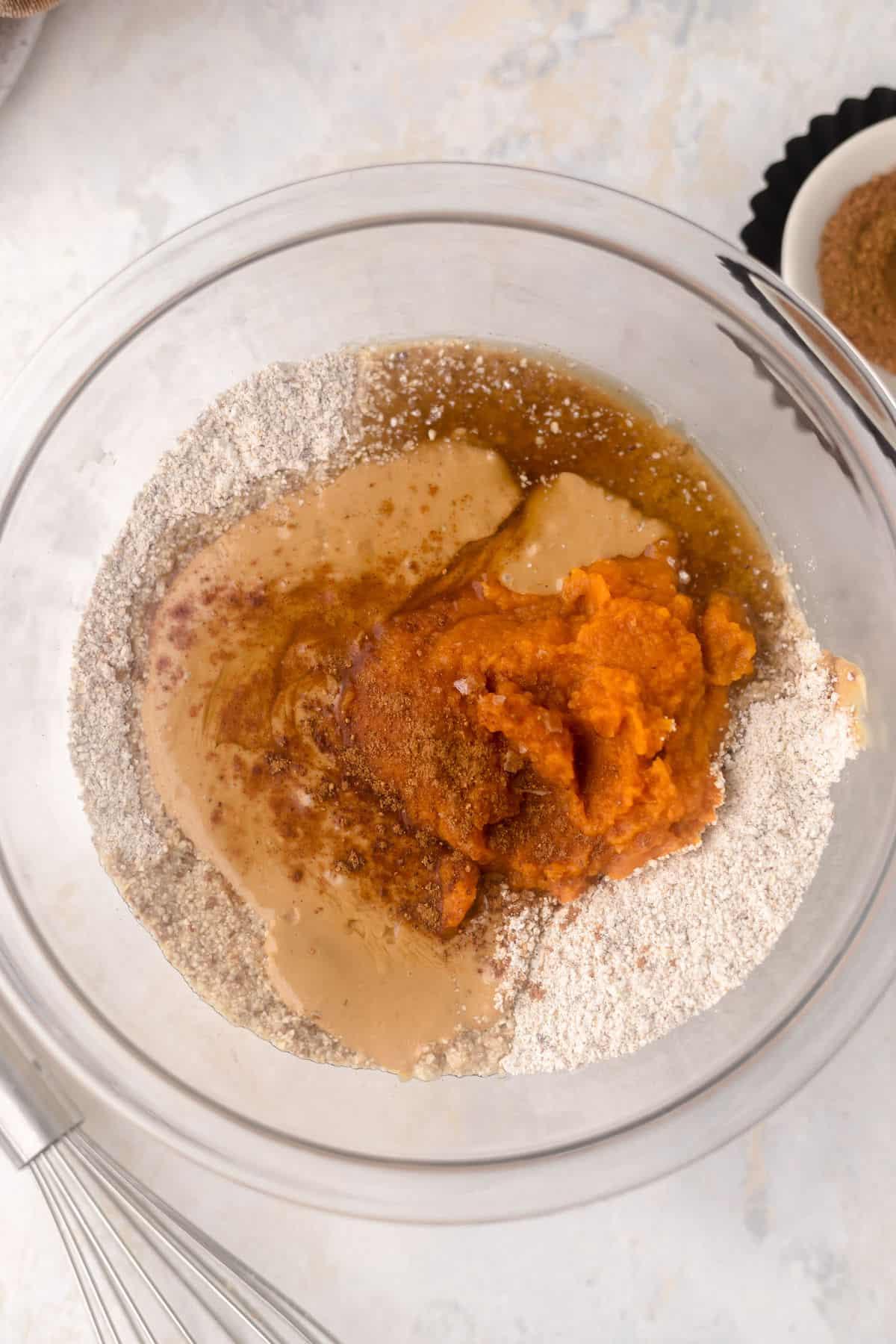 bowl of flour and pumpkin